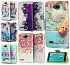 For LG X Charge Premium Leather Wallet Pouch Flip Case Phone Cover +Screen Guard