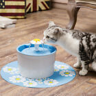 Pets Auto Fountain Filter Cat Dog Drinking Water Bowl 1.6L Feeder Flower Style