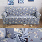 Roman Flower Pattern Print Sofa Furniture Cover Stretch Spandex Fabric Cover