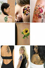 Flower Temporary Tattoo, vintage inspired floral art