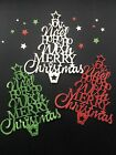 """Large """"Christmas Greetings"""" Tree Card Topper Die Cuts - assorted sets of 6"""