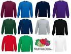 Fruit of the Loom Mens Raglan Fleece Sweatshirt Sweater Jumper New