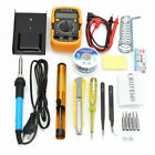 110V 60W Adjustable Temperature Welding Soldering Iron multimeter Tool Kits