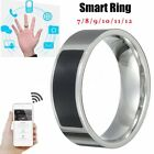 NFC Magic Stainless Steel Smart Black Ring Wearable For HTC LG Phone Android New
