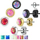 316L Stainless Steel Opal Post Stud Earrings (Choose Color)