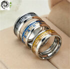 XINHAIS crown Stainless Steel Titanium Wedding Band Ring Size 6-13 Jewelry/CA