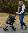 Pet Gear Travel Lite Dog Cat Stroller Lightweight 9lbs Large Wheels Tall Handle