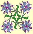 Anemone Quilt Squares 3- DESIGN 7- Anemone Machine Embroidery Singles In 4 Sizes