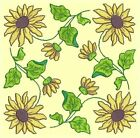 Anemone Quilt Squares 4- DESIGN 2- Anemone Machine Embroidery Singles In 4 Sizes