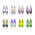 10Pcs Nail Art Rhinestones Elongated Teardrop Colorful Stones For 3D Nails Decor