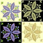Anemone Quilt Squares 5-DESIGN 9-An Anemone Machine Embroidery Single In 4 Sizes
