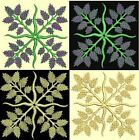Anemone Quilt Squares 6-DESIGN 2-An Anemone Machine Embroidery Single In 4 Sizes