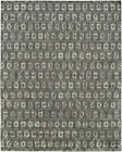 Kalaty Gray Blocks Repeat Half-Brick Rows Contemporary Area Rug Geometric GR-713