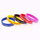 Diabetes Type 2 Dependent Silicone Rubber Wristband bracelet jewelry souvenir