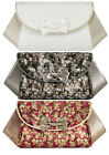 NEW Ruby Shoo Art Deco Inspired Cream Gold Pewter Palma Clutch Bag Amy Lily
