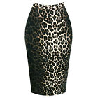 Hell Bunny Panthera Leopard Print Tight Fitted Wiggle Pencil Vintage 1950s Skirt