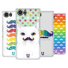 HEAD CASE DESIGNS RAINBOW MOUSTACHE BACK CASE FOR BLACKBERRY KEYONE / MERCURY