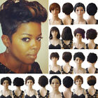 2017 Pixie Style Women Human Hair Synthetic Wigs 100% Brazilian Hair Short Wig