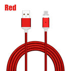 0.5M-3M 2.4A Magnetic LED Micro USB Fast Charging Cable for Samsung Android Lot