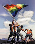 Raising the Rainbow Flag (Classic Gay Liberation Art Print)