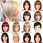 Fashion Short BOB Full Wigs Daily Cospaly Costume Synthetic Wigs Highlight Style