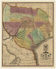 Classic American Map Print: 1837 Republic of Texas