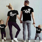 Family Clothes Casual Blouse T-shirt King Queen Couples Crown Printed Funny Tee