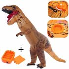 Adults Inflatable Dinosaur Costume T-REX Funny Jurassic Halloween Blowup Outfit