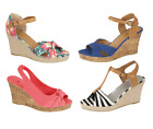 Womens Ladies Wedge Summer High Heel Strappy Sandals Styles/Colours Sizes