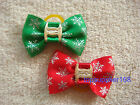 NEW Dog bows pets Grooming hair bow Christmas cute gift Pet Accessories #C16