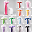 "Hot 50/100/150/200X 6""x108"" Satin Chair Cover Sashes Bow Wedding Party Decor US"