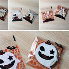 100Pcs Halloween Spider Pumpkin Self-Adhesive Transparent Candy Biscuit Packing