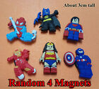 4pcs Funny Small PVC Fridge Magnet Kid Birthday Xmas Gift Party Favor Home Decor