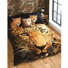 ANIMALS PHOTO DUVET COVER SETS HUSKY TIGER BEAR STAG - SINGLE, DOUBLE & KING