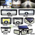 4-90 LED Solar Power PIR Motion Sensor Wall Light Outdoor Garden Lamp Waterproof