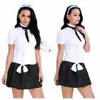 sissy in school uniform - Sissy Women School Uniform Girl Hairband Tie Costumes Fancy Dress Lingerie Skirt