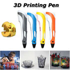 LED 3D Printing Drawing Pen Crafting Modeling ABS w/ Filament Arts Printer Tool