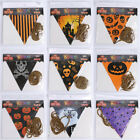 Colorful Halloween Castle Skull Flag Pennant Plastic Banner Party Decor