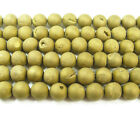 Brass Electroplated Druzy Agate Round Gemstone Beads~Guaranteed