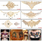 New Temporary Tattoo Stickers Sexy Waterproof Chest Back Gold Tattoo Sticker tb $1.05 USD