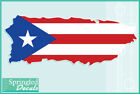PUERTO RICAN SHAPED FLAG Vinyl Decal Car Truck Sticker CUSTOM SIZES Puerto Rico