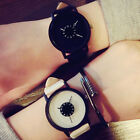 Fashion Women's Girl Creative Quartz Stainless Steel Leather Analog Wrist Watch image