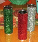 NEW BATH & BODY WORKS GLITTER METAL FINE FRAGRANCE MIST COVER SLEEVE HOLDER