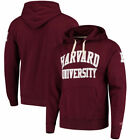 Harvard Crimson Mens Lcw Stadium Collection University Pullover  Sweatshirts