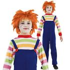 KIDS CHILDS PLAY EVIL DOLL CHUCKY MOVIE HALLOWEEN FANCY DRESS OUTFIT COSTUME