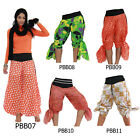 Pants PBB7-11 Cotton Boho Wide Leg Bell Bottom Harem Hippy Gypsy Women Trousers