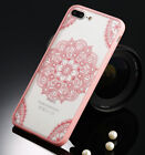 for iPhone 7+ / 8+ PLUS - Hard TPU Gummy Rubber Case Cover Henna Lace Flowers