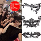 Halloween Fancy Party 6pcs Wowen Black Lace Eye Face Masks Masquerade Prom
