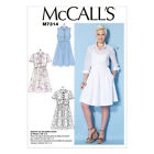 McCall's 7314 Easy Paper Sewing Pattern to MAKE Misses' Shirt Dress in Cup Sizes