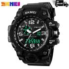 SKMEI Fashion LED Army Military Wristwatch Sport Mens Quartz Analog Digital US